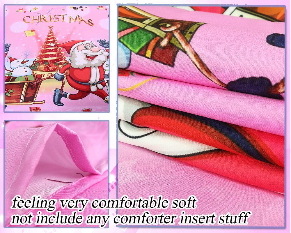 Christmas Bedding Set Polyester Santa 3D Printed Christmas Bedding Decorations