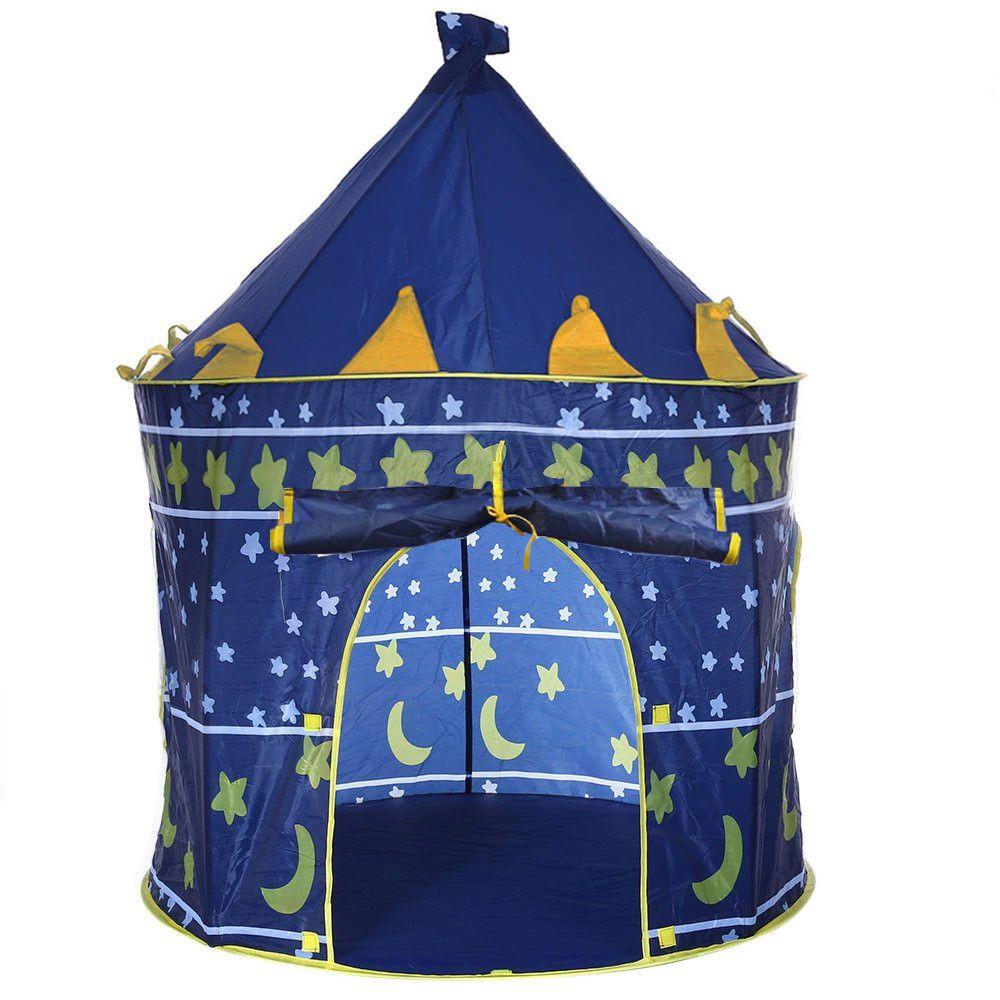 Outdoor Indoor Children's Portable Blue Game Tent