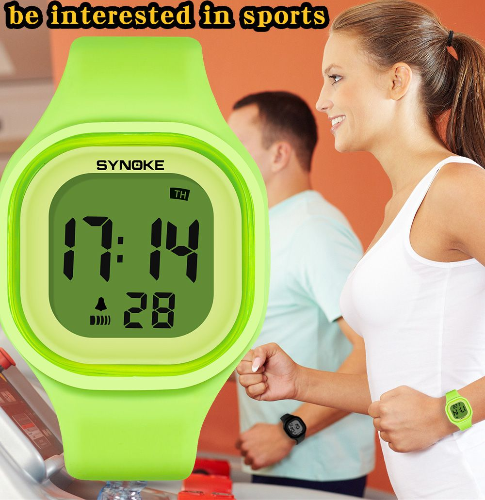 SYNOKE 66896 Waterproof Silicone Band Couple Electronic Watch