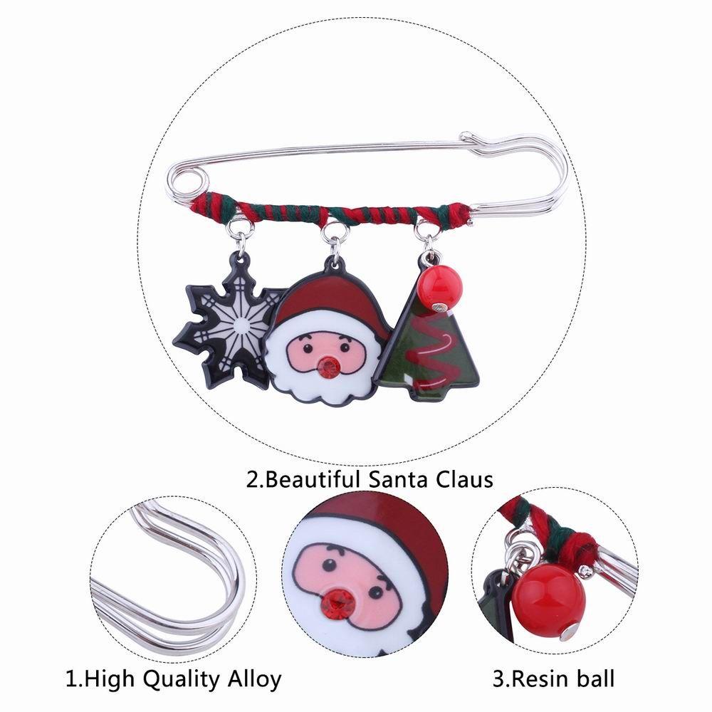 Fashion Design Snowflake Pine Snowman Christmas Pin Brooch Charm Jewelry