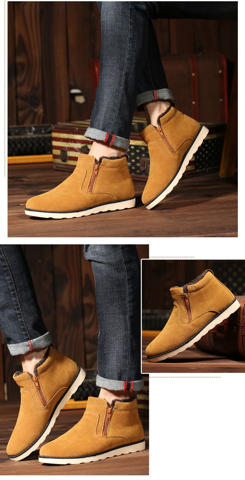 Winter Men Thicker High Plus Velvet Warm Snow Boots
