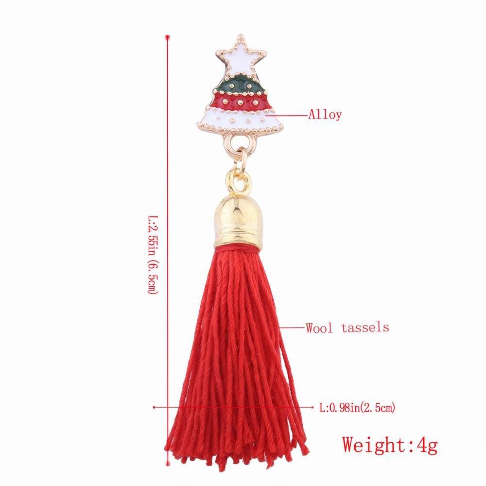 Fashion Design Christmas Bell Long Tassels Brooch Charm Accessories