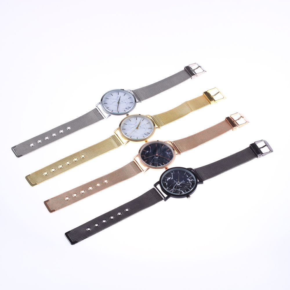 Trendy Casual Stainless Steel Band Unisex Quartz Watch