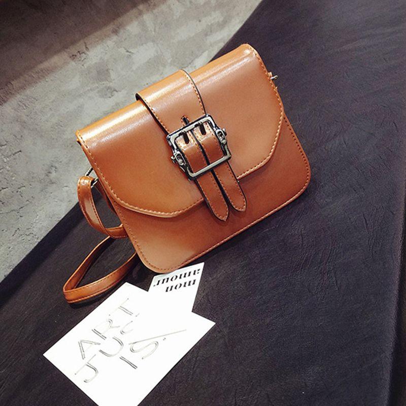 Women's Shoulder Buckle Pattern Roomy Women's Bag