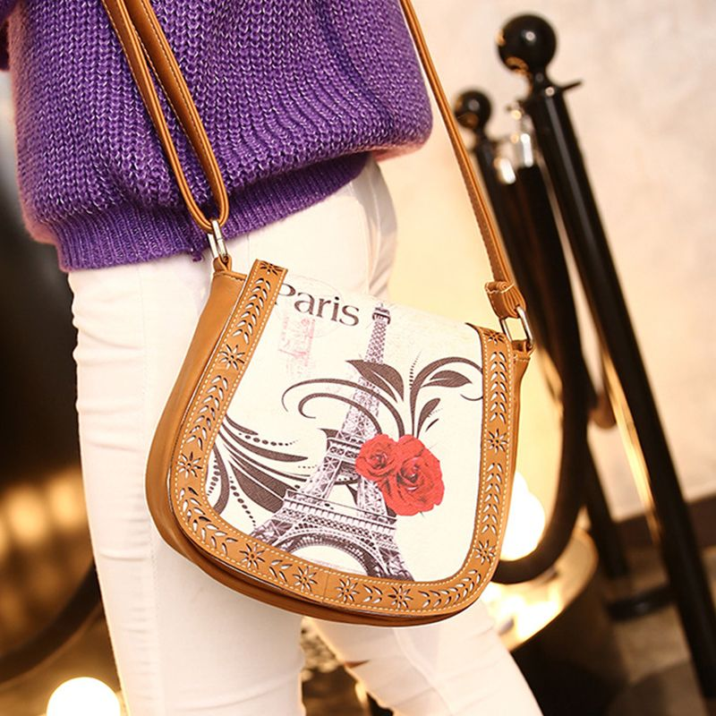 Women's Crossbody Vintage Casual Colorblock Hollow Out Bag