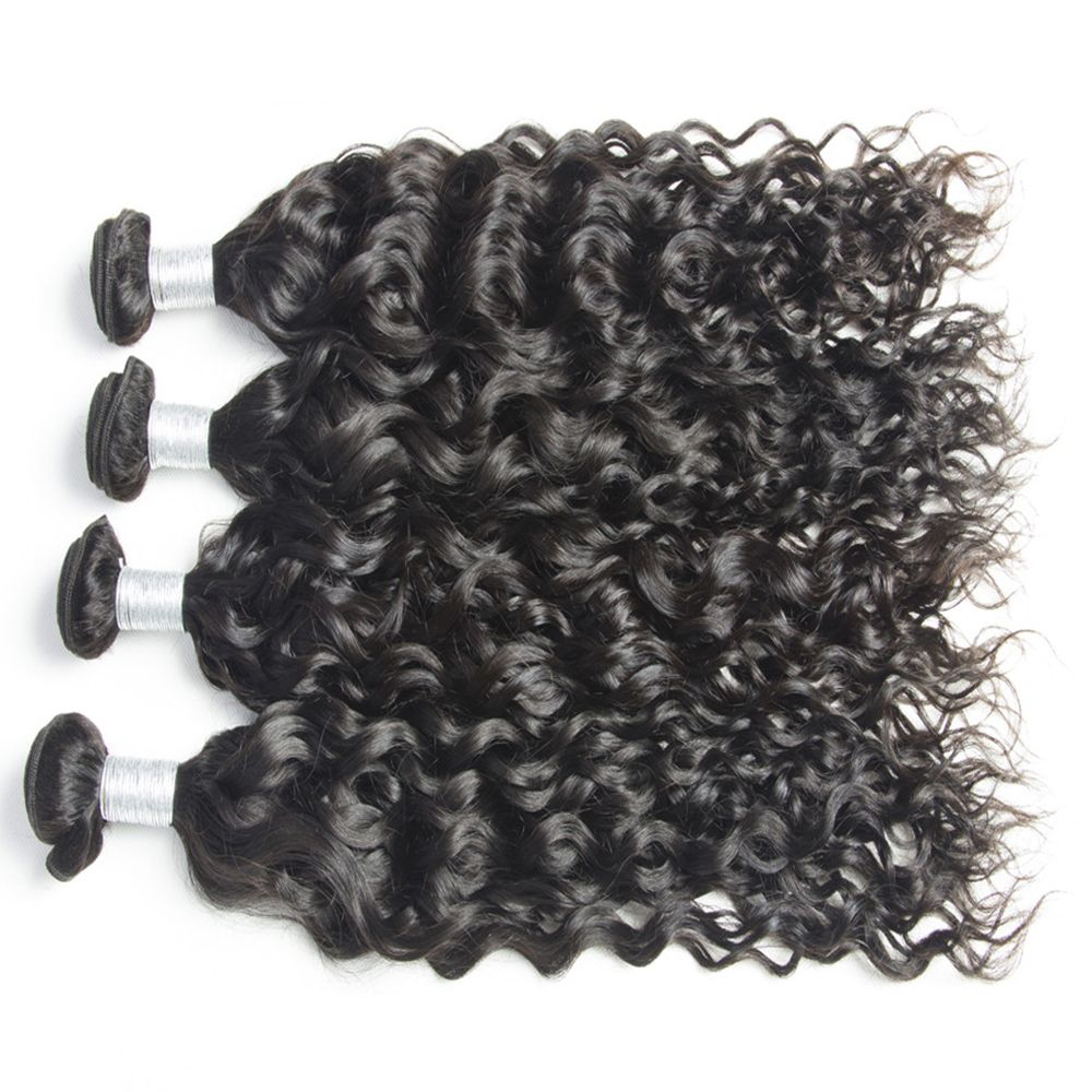 Malaysian Water Wave Virgin Human Hair Extension Natural Color 1 bundle 12inch - 26inch