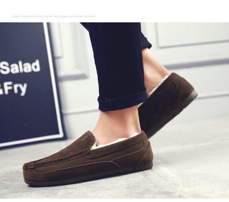 Autumn Plus Velvet Wild Casual Sports Breathable Men'S Shoes