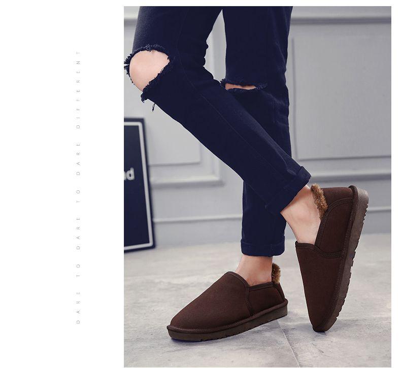 Winter Plus Velvet Casual Non-Slip Male Snow Boots