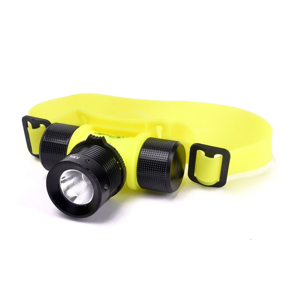HKV LED Diving Headlight Waterproof Fishing Swimming Head Lamp Torch Light