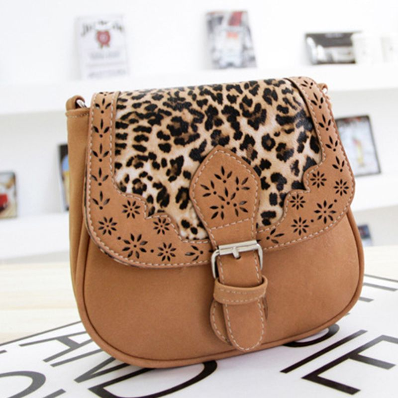 Women's Crossbody  Vintage Mori Girl Style Chromatic Leopard Bag