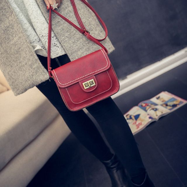 Women's Crossbody Retro Solid Color All Match Dainty Chain Bag