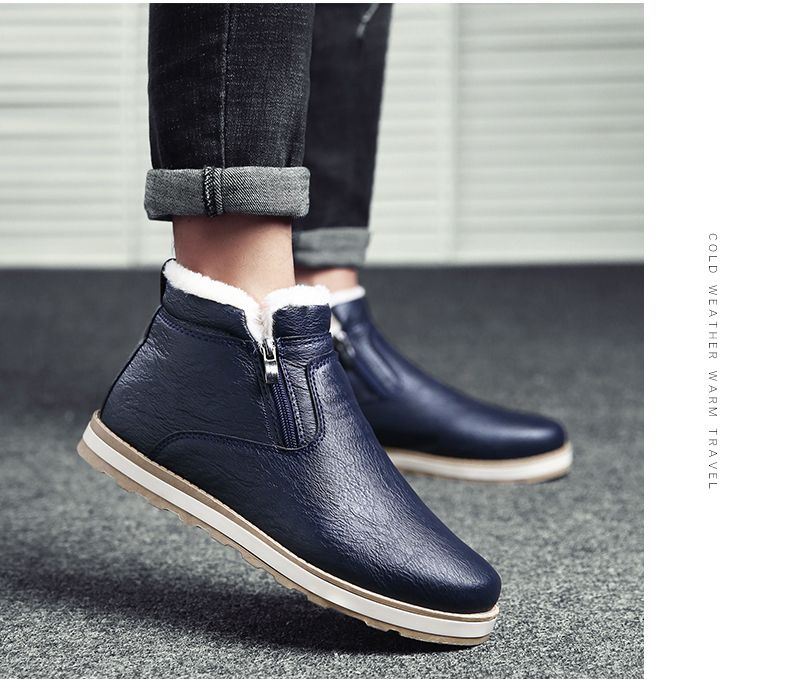 Autumn and Winter Plus Velvet Casual Breathable Non-Slip Men'S Shoes