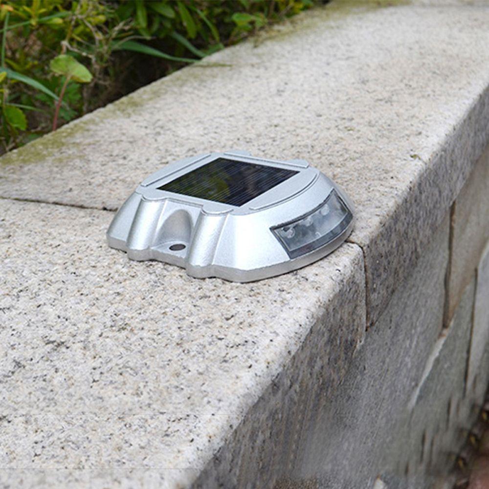 Aluminum Solar 6 - LED Outdoor Road Driveway Dock Path Ground Light Lamp