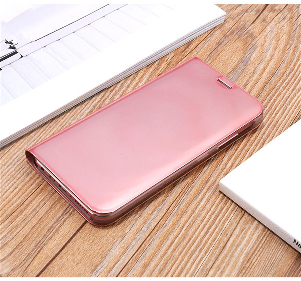 Mirror Flip Leather Clear View Window Smart Cover for Samsung Galaxy J730 / J7 Pro Case