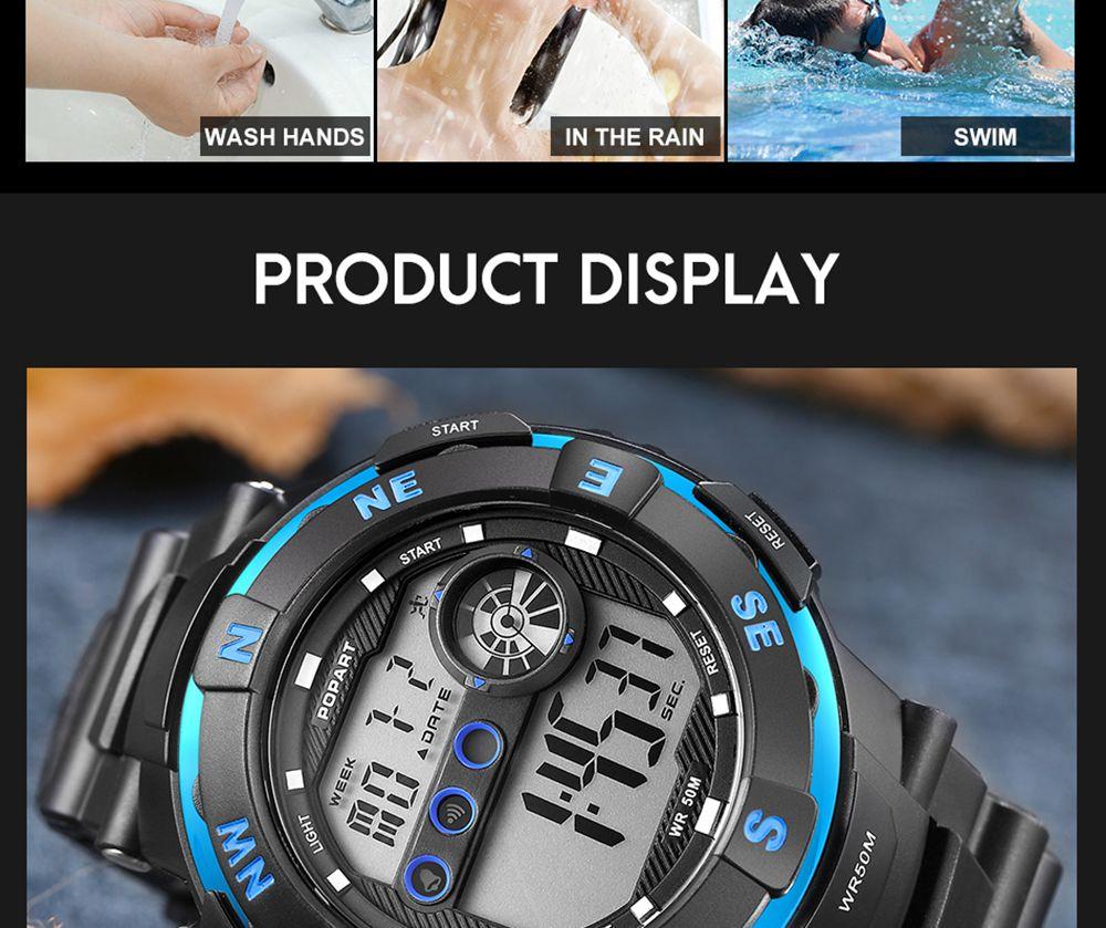 POPART POP - 831D Men Outdoor Sports Digital Waterproof Watch
