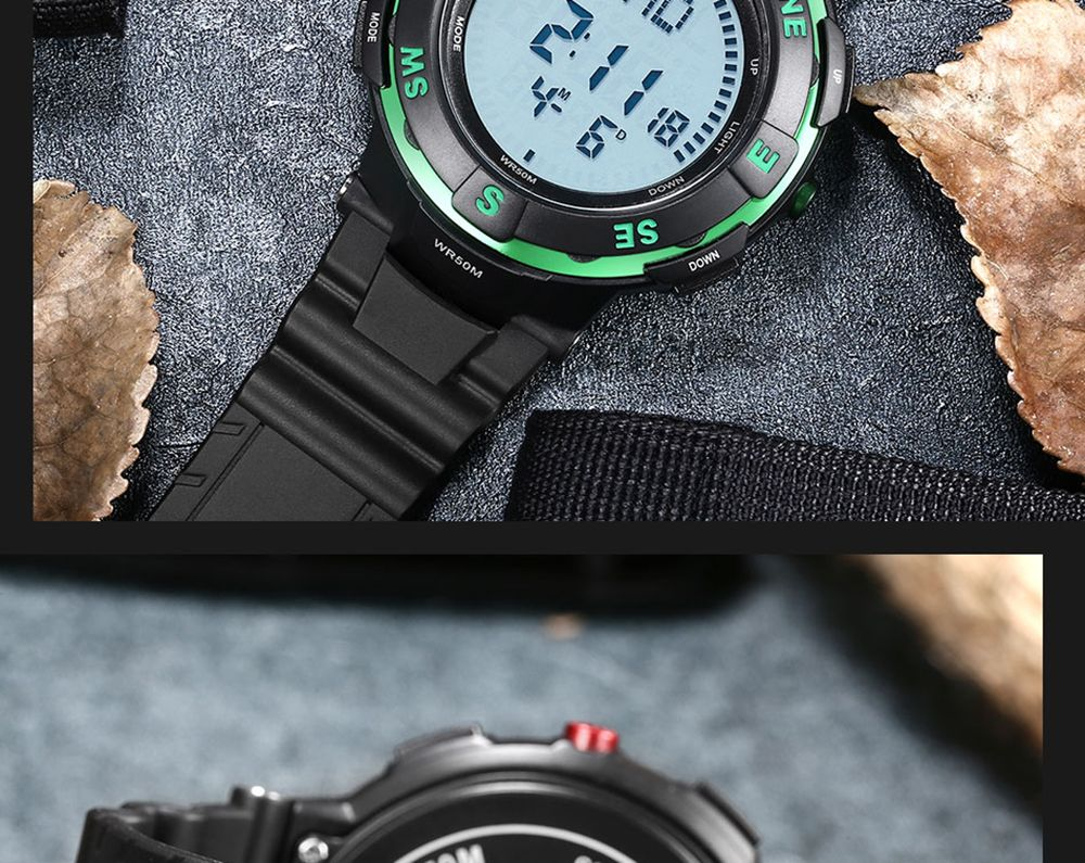 POPART POP831 Men Fashionable Mulitifunciton Waterproof Sports Wristwatch for Male