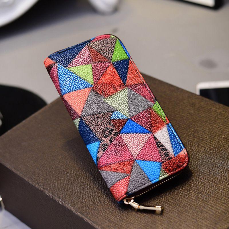 Women's Purse Colorblock Chic Geometric Ladylike Bag