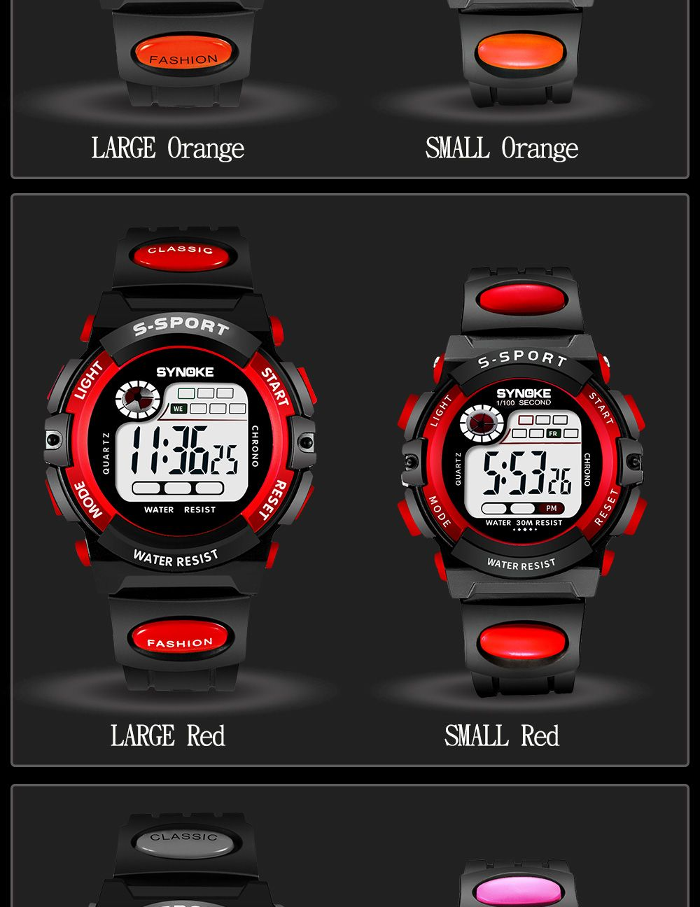 SYNOKE 99269 Sports Waterproof  Electronic Watch