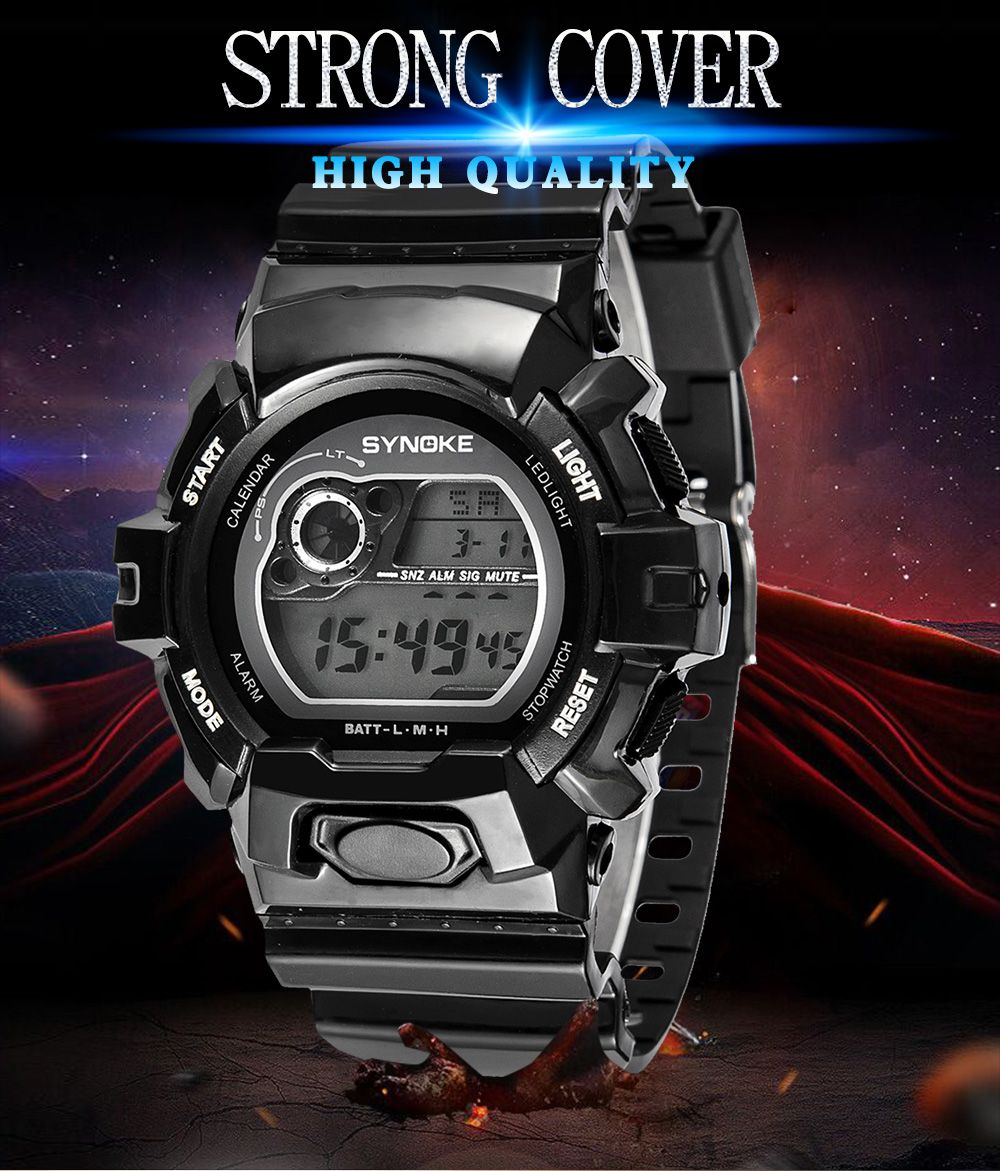 SYNOKE 67556 Sports Fashionable Man Electronic Watch