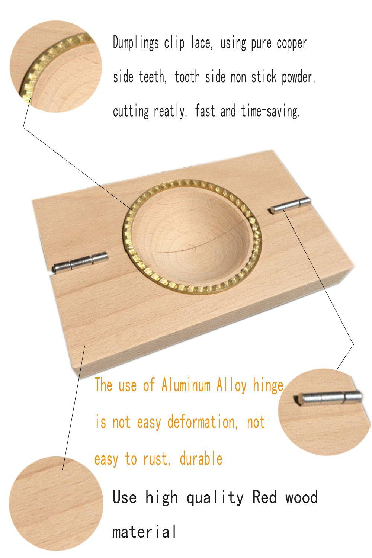 Ravioli Mold Dumpling Maker Wrapper Pie Mould Wooden Kitchen Gadgets for Home  Restaurant Dessert Shop