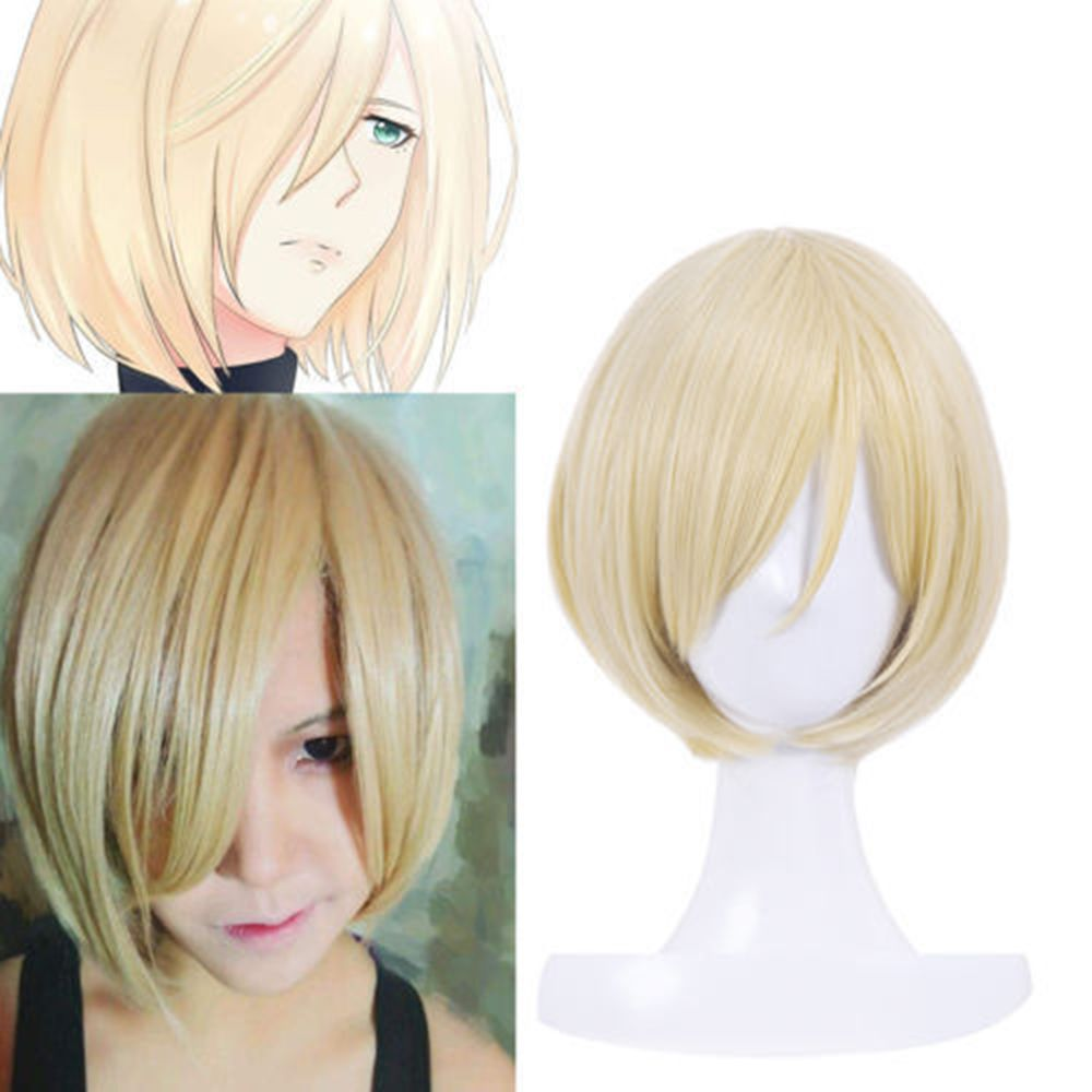 Blonde Short Synthetic Hair Cosplay Wig for Men
