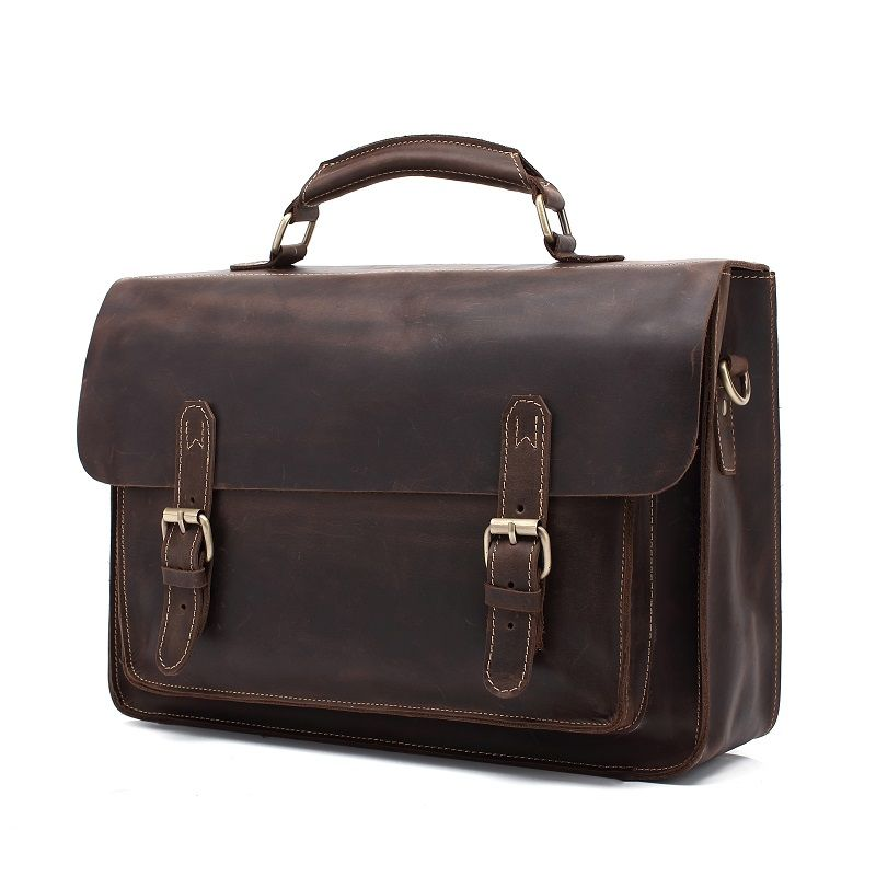 AUGUR Hot Selling Genuine Leather Briefcase Men Handbag Messenger Business Computer Bag
