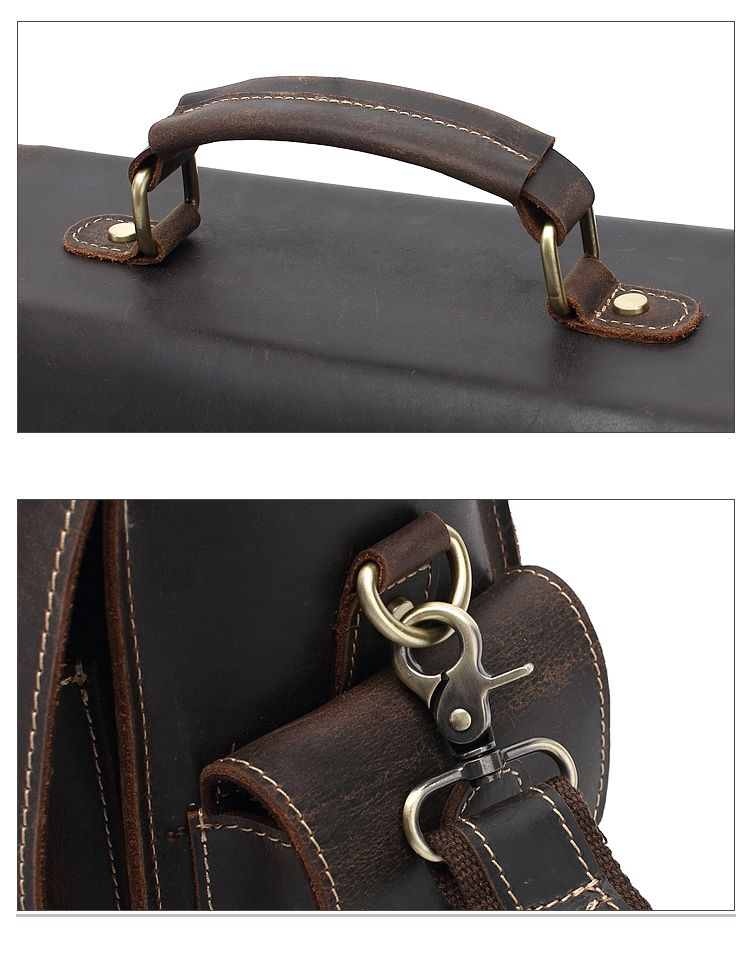 AUGUR Retro Men Handbag Multifunction Genuine Leather Shoulder Messenger Bag