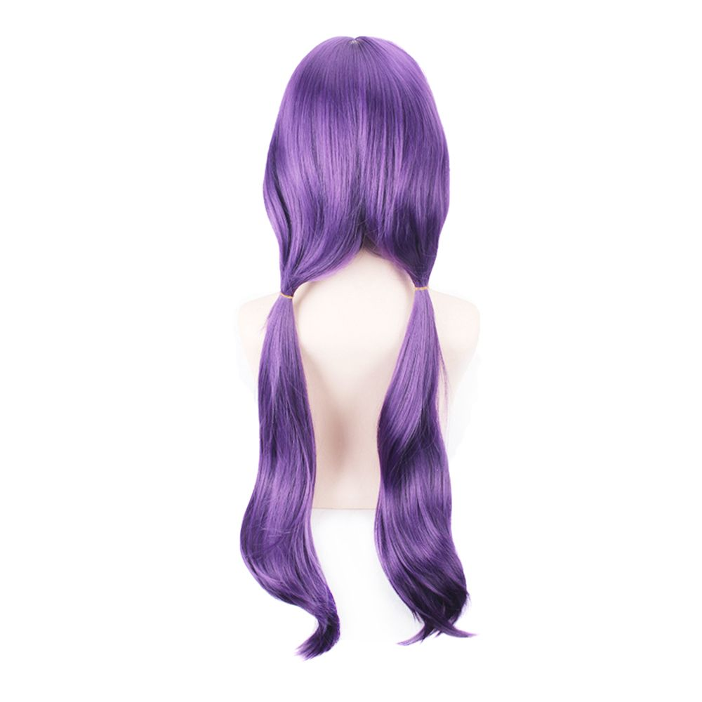 80cm Long Straight Hair Purple Color Anime Cosplay / Halloween Party Wig for Women