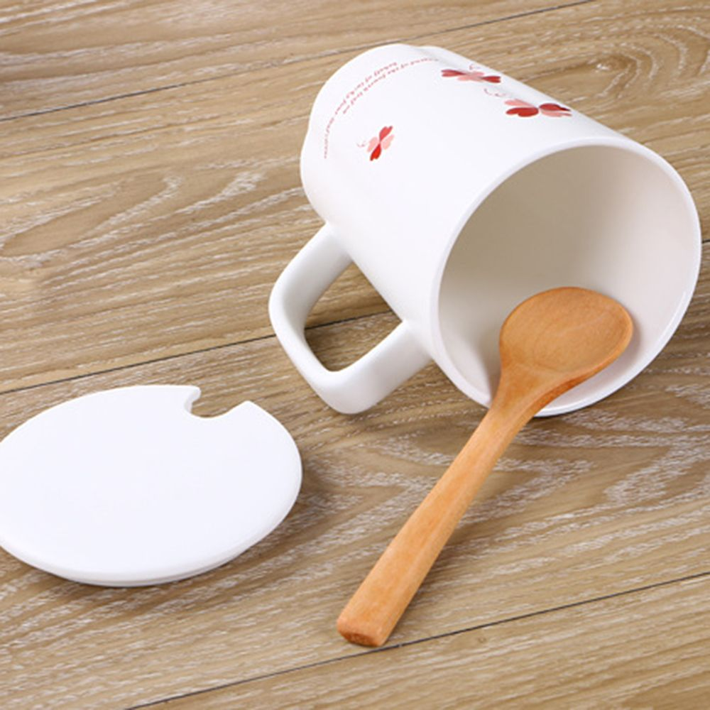 360ML Simple Flower Mug