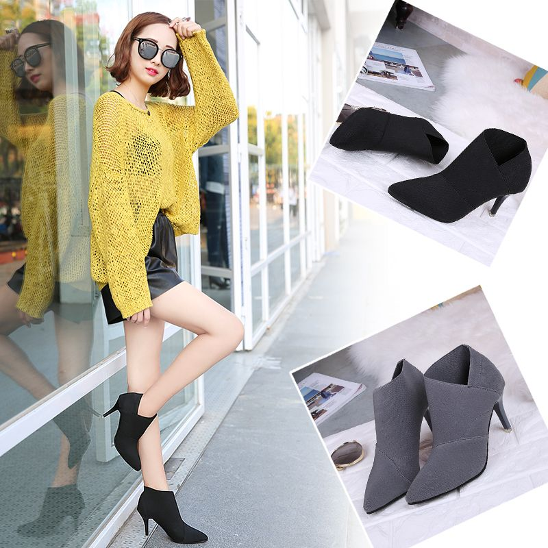 TJ-196Ms Han All-Match Pointed Stiletto Boots