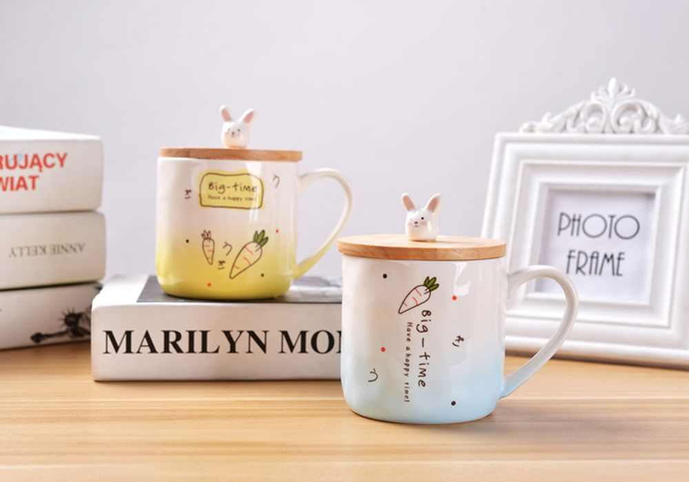 400ML Creative Rabbit Ceramic Cup