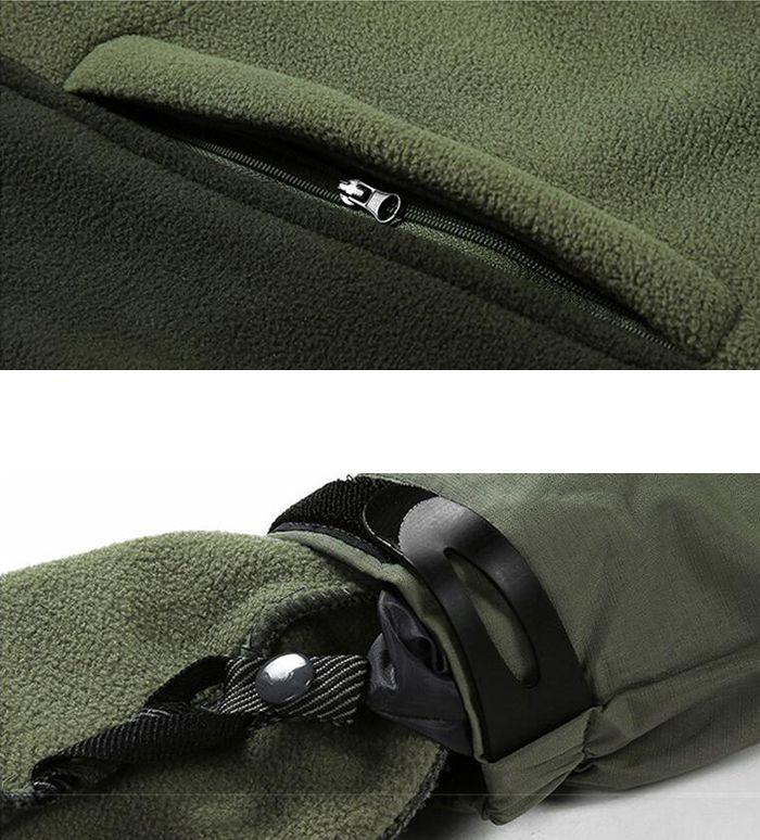 Men Plus Size Triple Windproof Rain-Proof Waterproof Jacket Coat