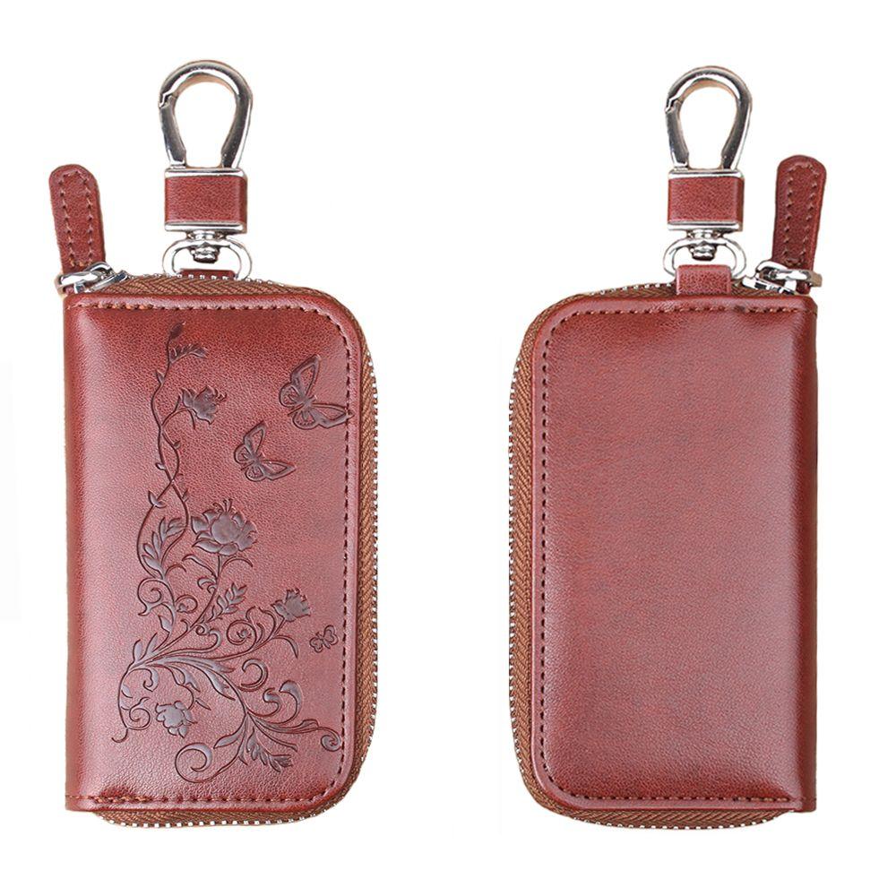 Large Capacity Zipper Key Package PU Leather Printing Key Handbag