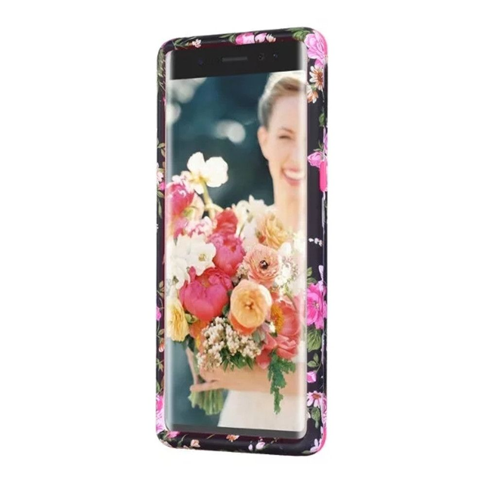 Rose Flower Design Hard PC Soft Silicone Protective Durable Shockproof Case For Samsung Galaxy Note8