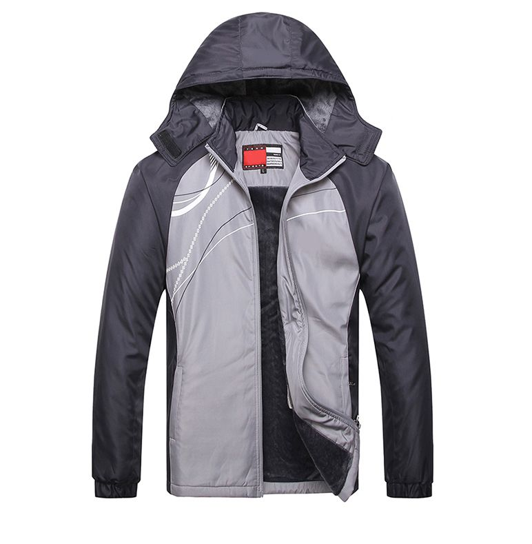 2017 New Men's Fashion Winter Hood Coat Sports Suit