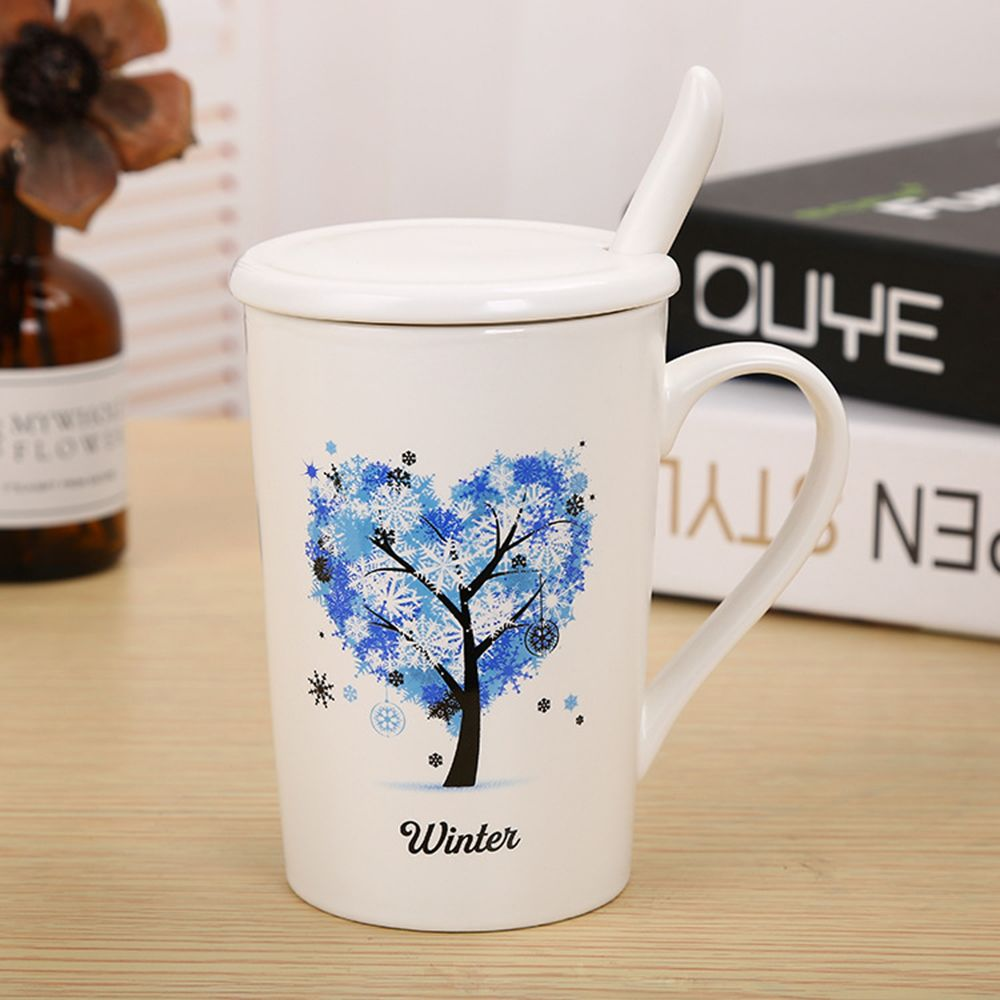 400ML Dumb Light of Four Seasons Tree Ceramic Cup