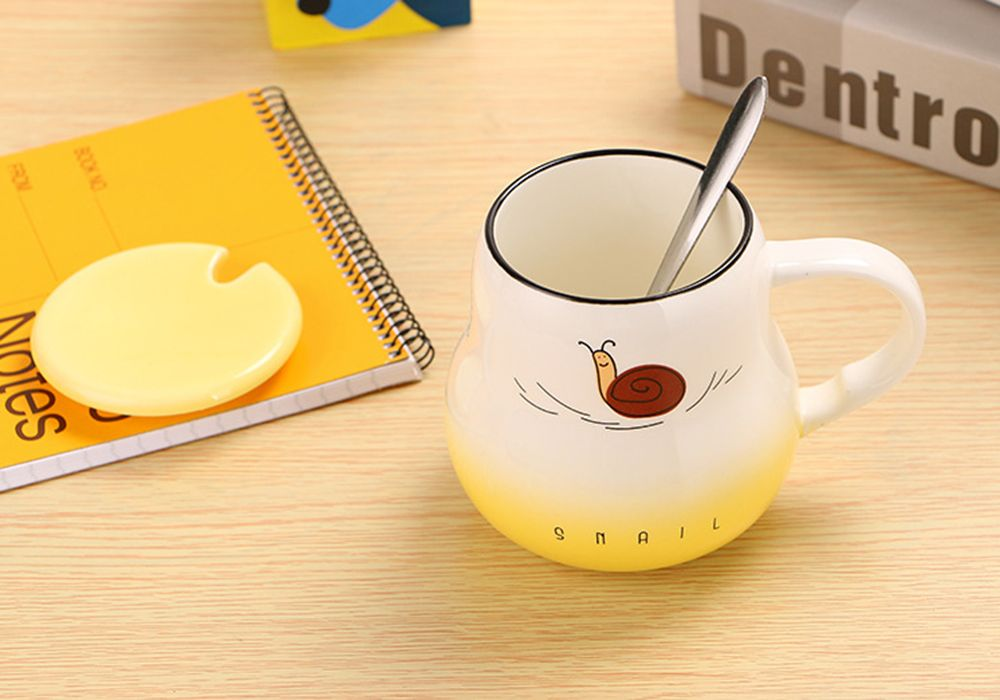 400Ml Cute Cartoon Creative Gradient Ceramic Cup