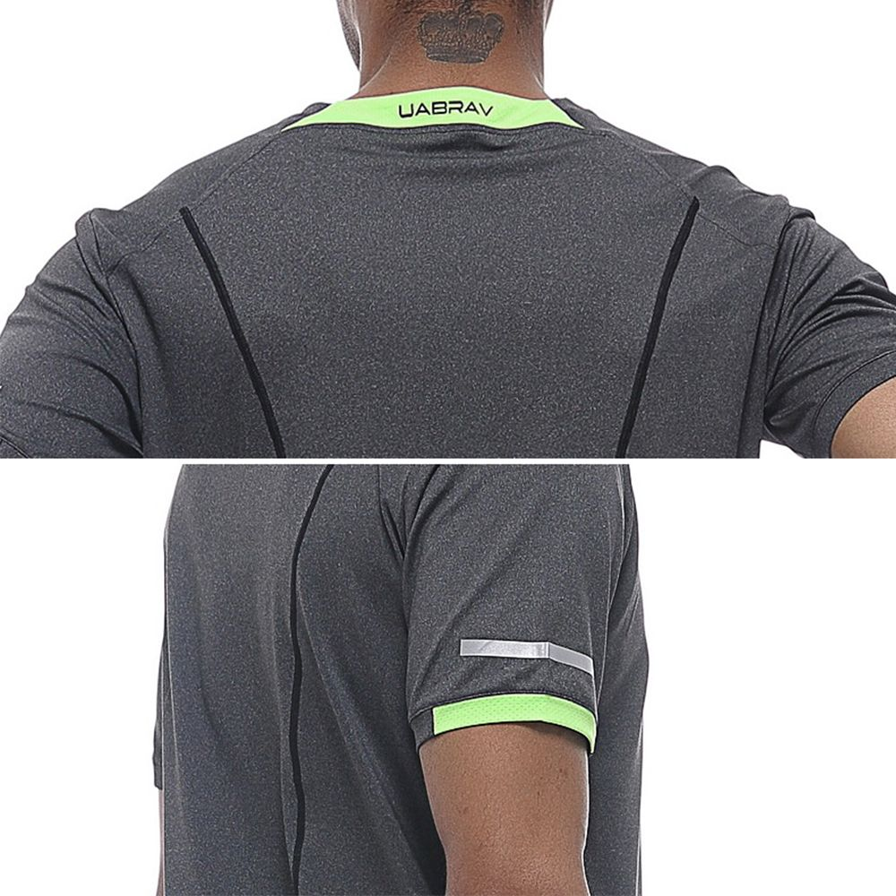 Men's Fashion Quick-drying Short Sleeve Shirt  Round Collar Outdoor Sportswear