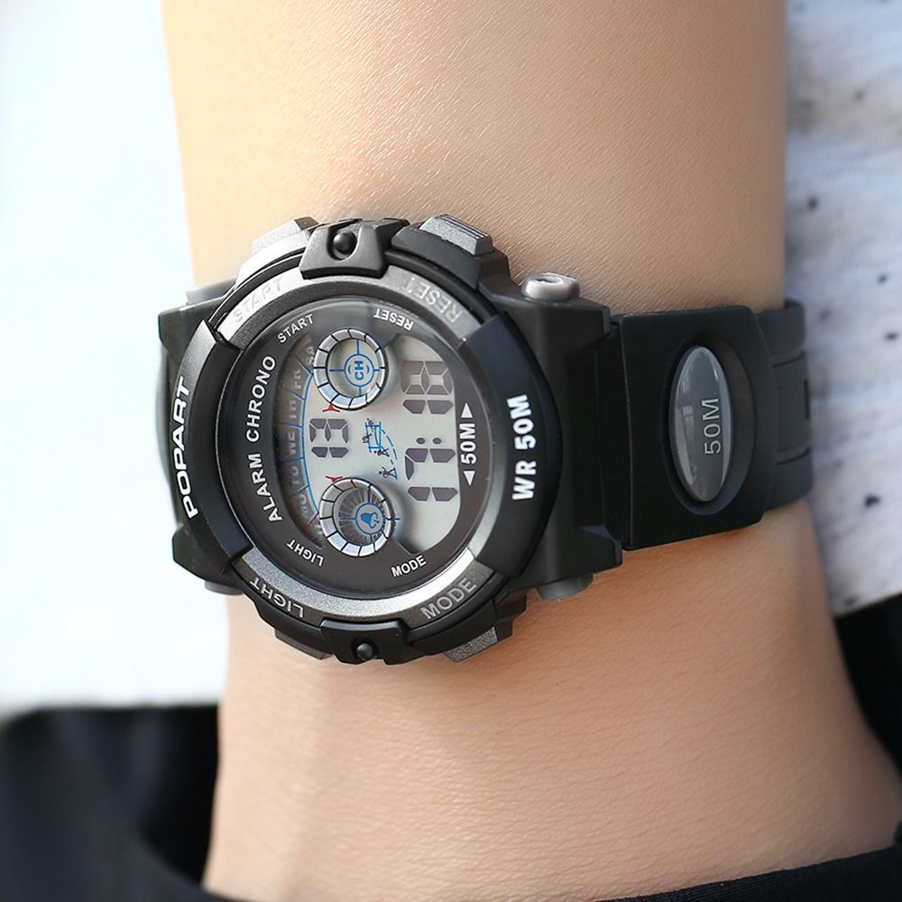 POPART 969D Sports Trendy PU Leather Band Unisex Wristwatch