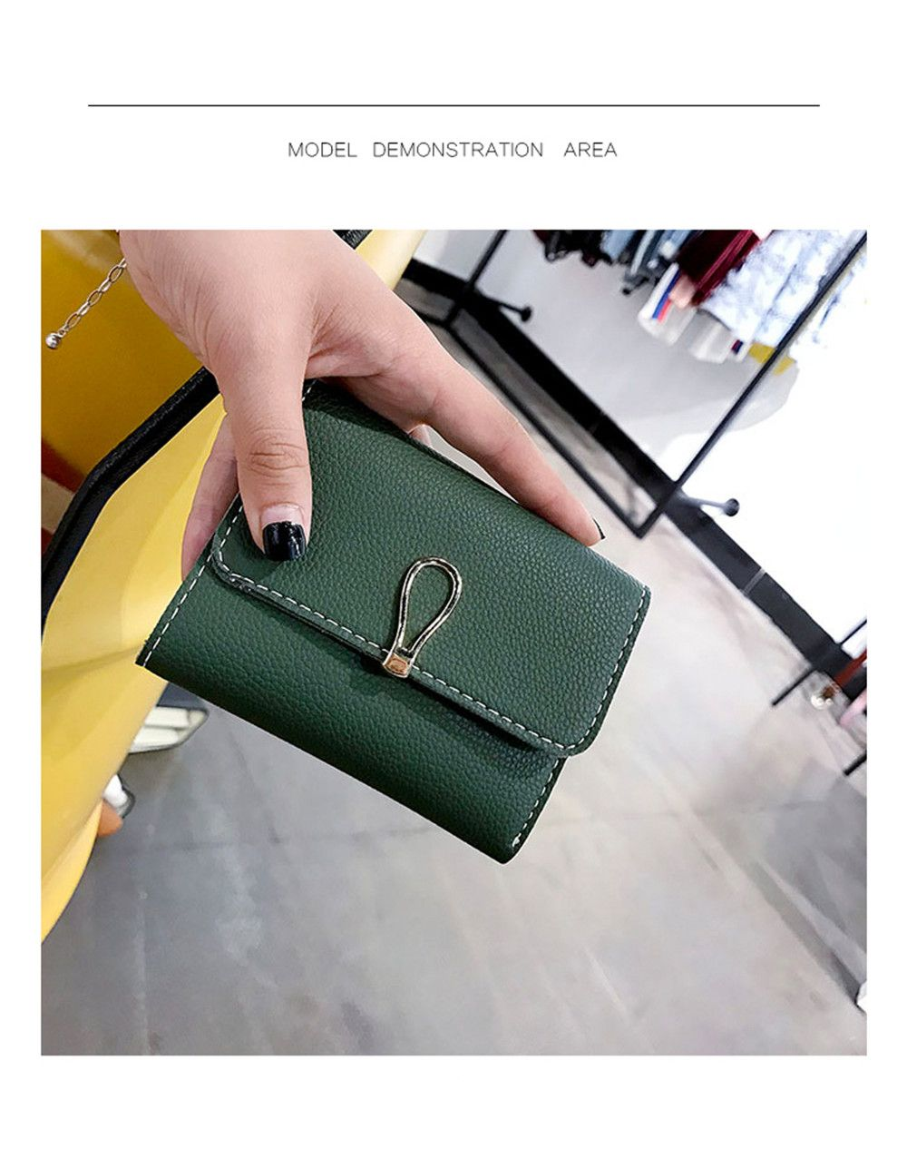 Small Fresh Students Short Section Simple Folding Trend Purse