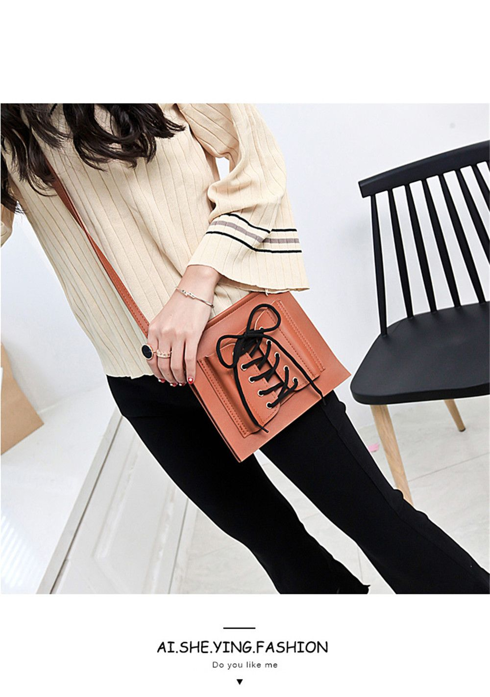 New Handbags Fashion Lace Shoulder Messenger Bag Casual Personality Small Package