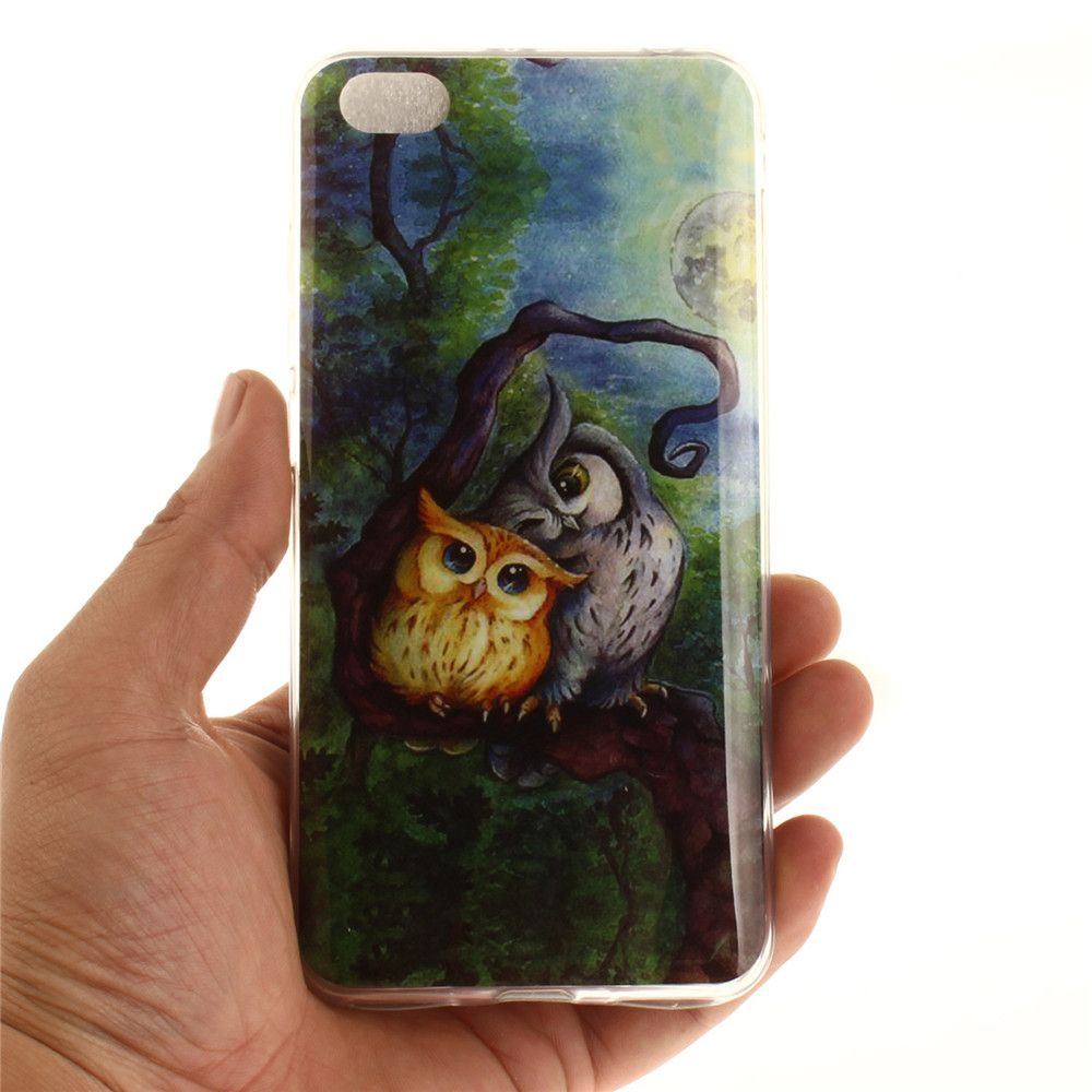 Oil Painting Owl Soft Clear IMD TPU Phone Casing Mobile Smartphone Cover Shell Case for Xiaomi Redmi Note 5A