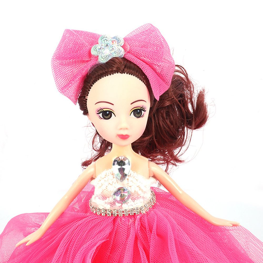 26CM Wedding Dress Lace Girl Doll Toy Pendant