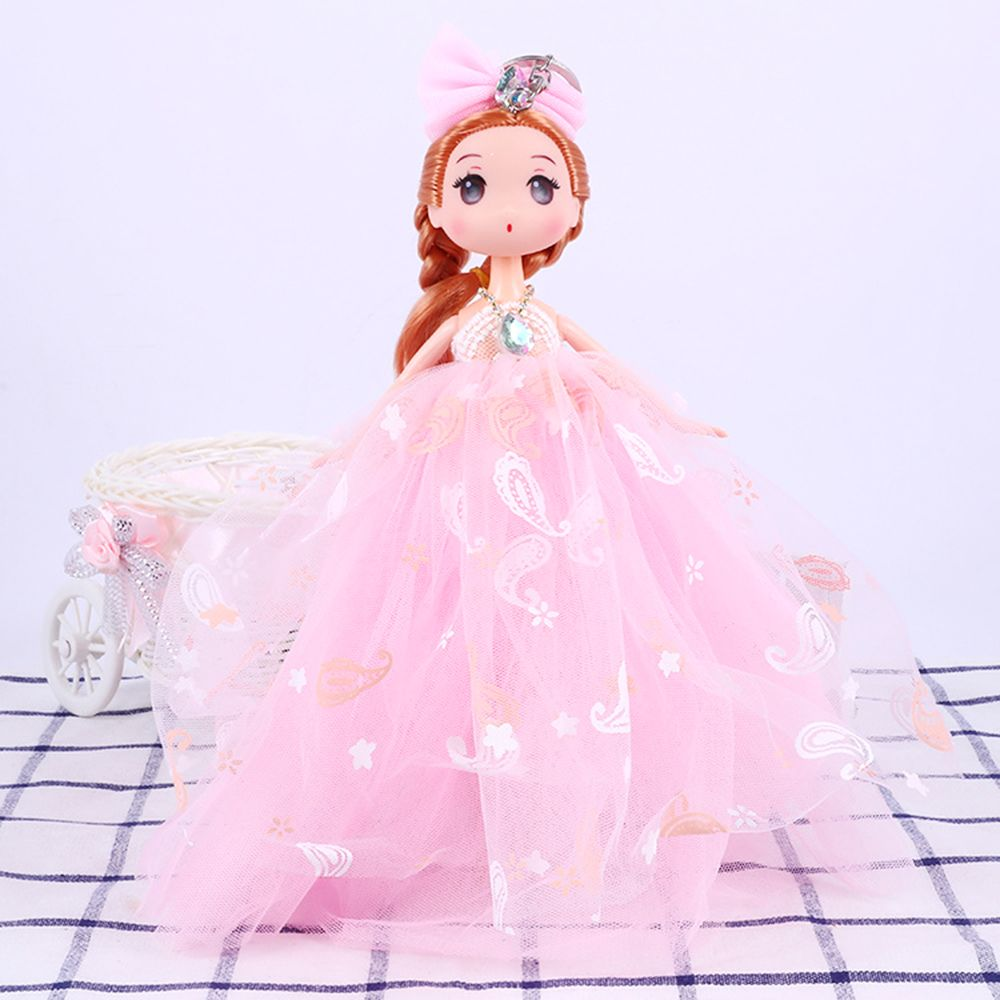 26CM Printed Camouflage Doll Wedding Dress Toy Pendant