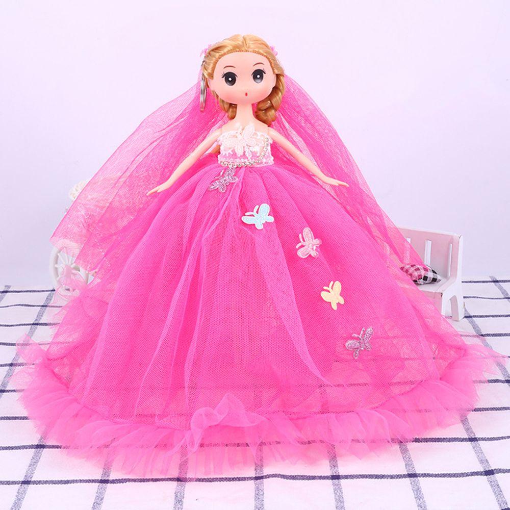 26CM Wedding Dress Lace Doll Toy Pendant