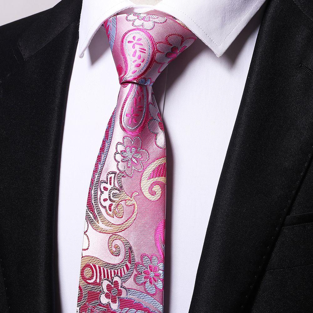 Fashion Men's Business Necktie Flower Cashews Pattern Floral All Match Tie Accessory