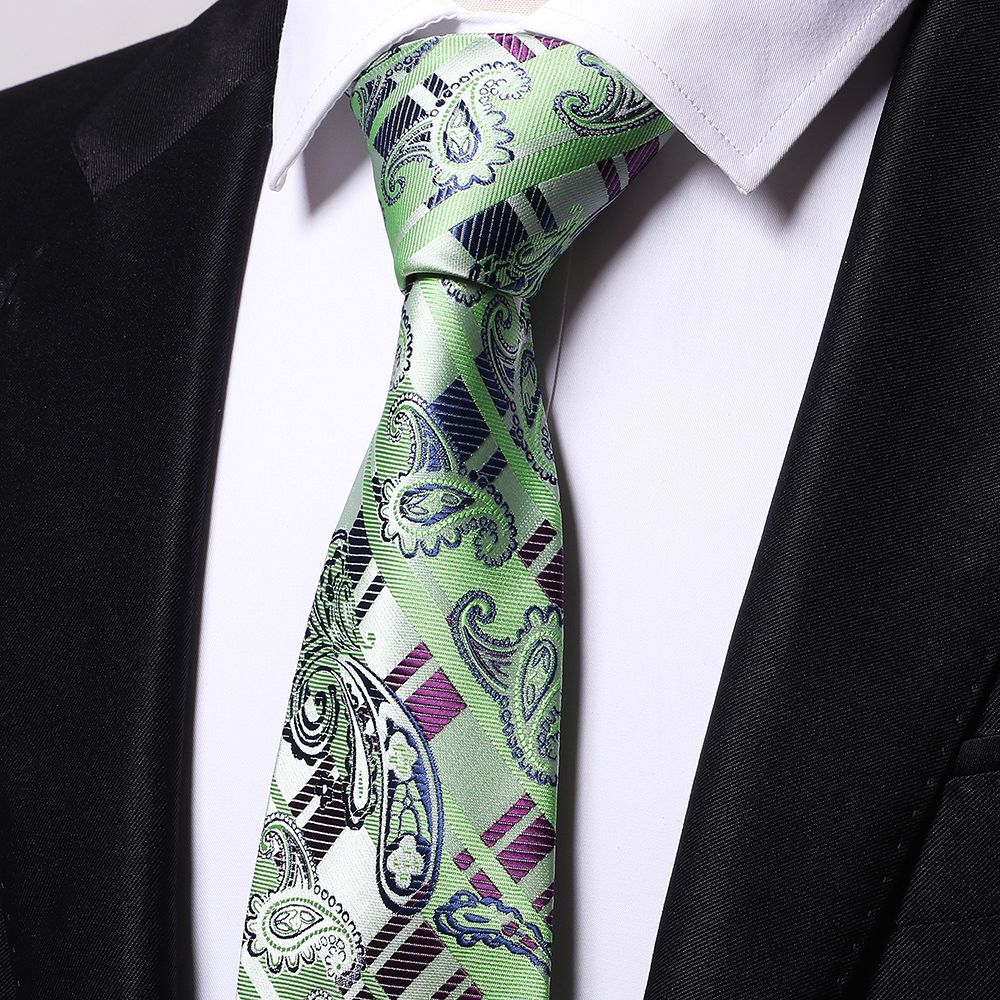Fashion Men's Business Necktie Cashews Pattern Simple Style Casual Stylish Tie
