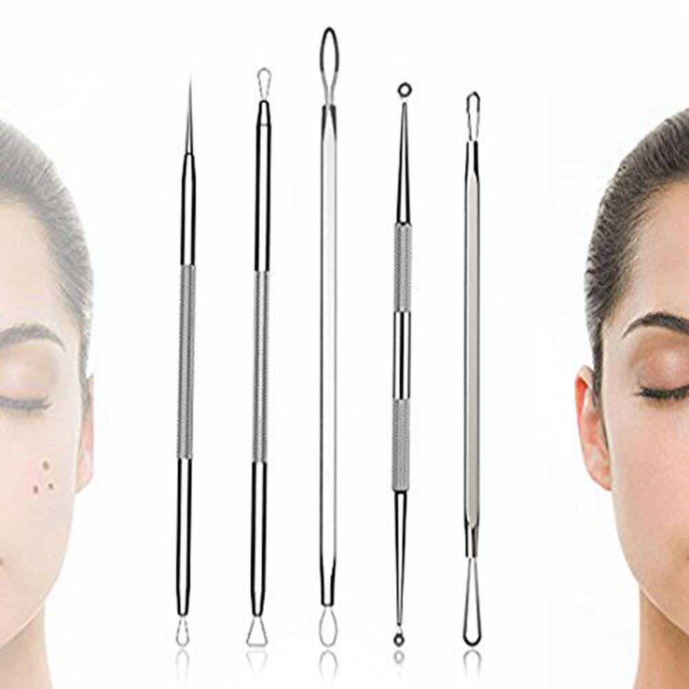TODO Acne Needle Five Blackhead Facial Spot Pimples Comedone Acne Removing Kit