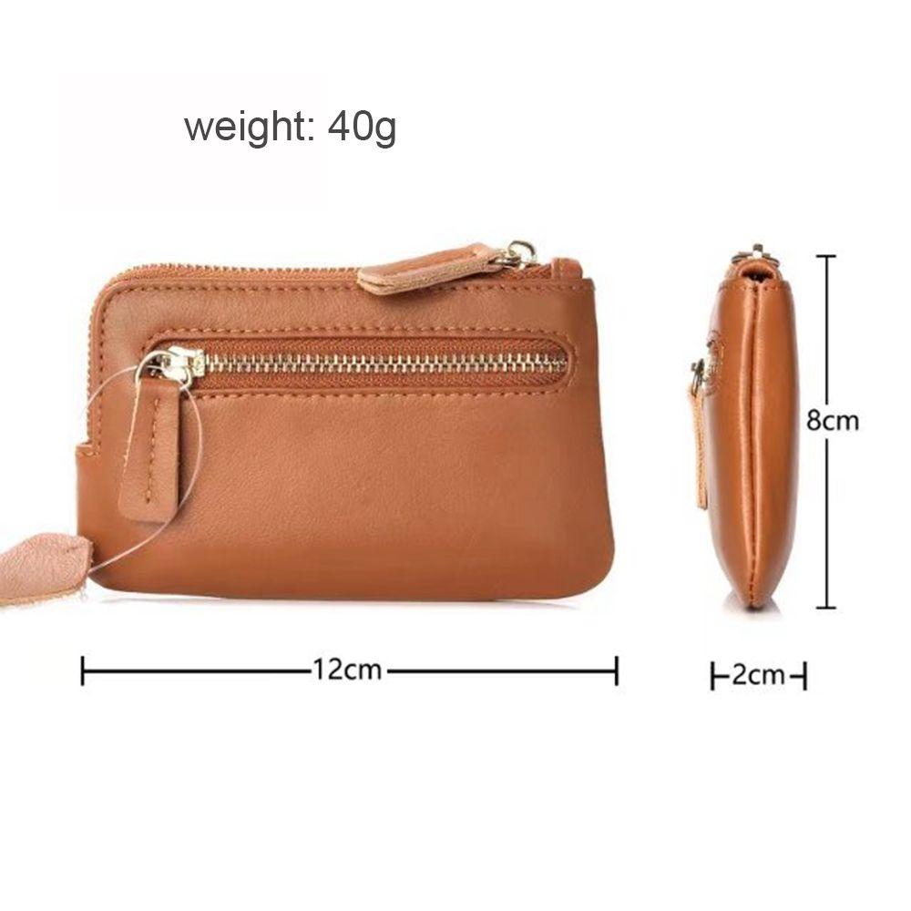 Wkae Genuine Leather Cowhide Wallet Bag for Keys Credit Cards
