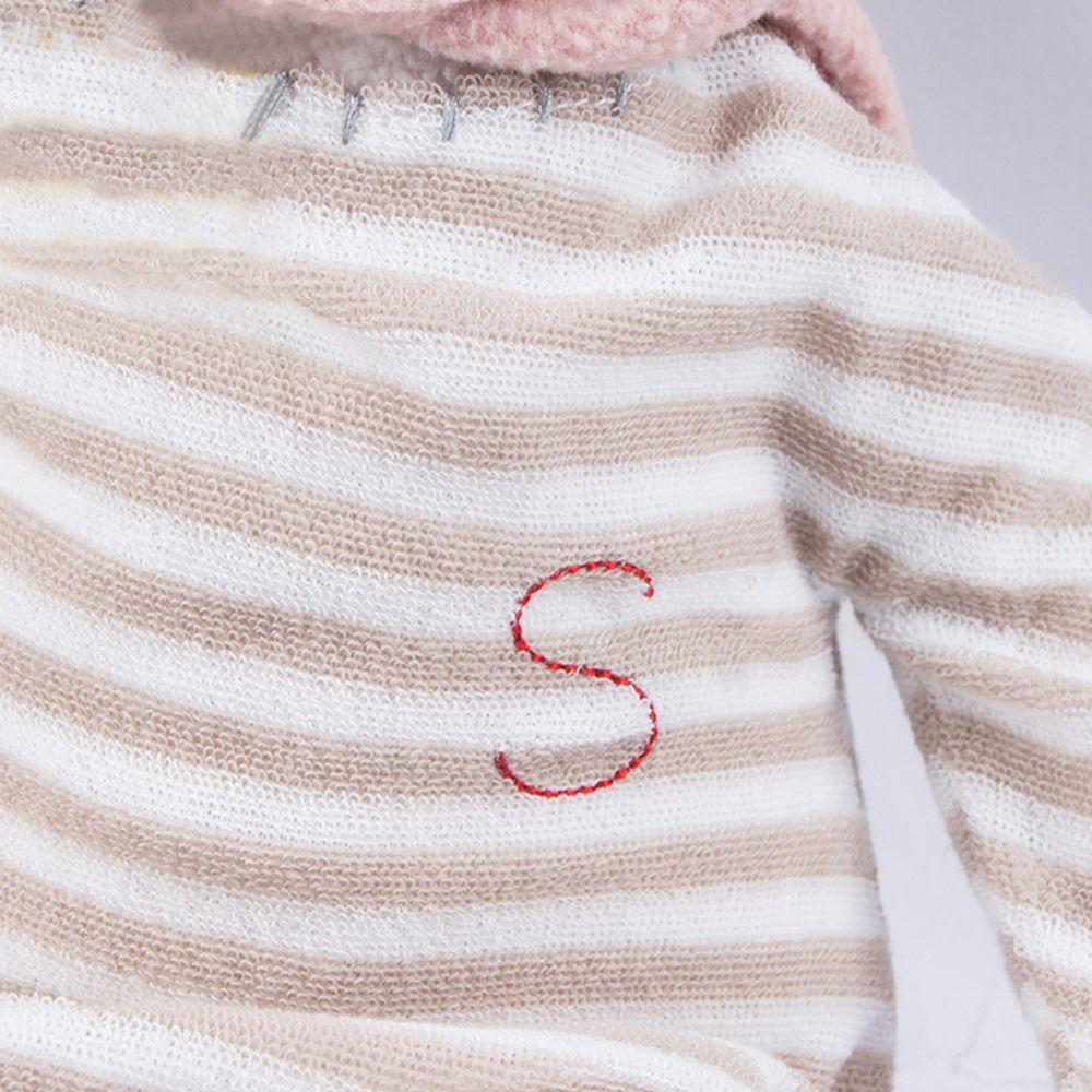 30CM Striped Shirt Cap Plush Bunny Doll